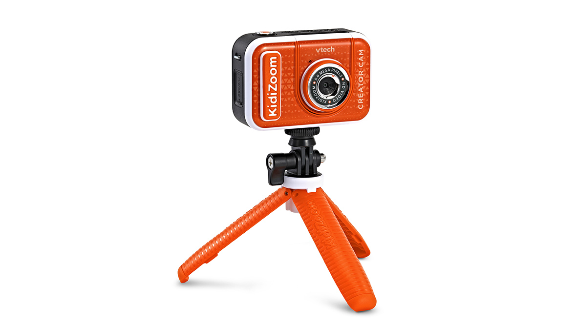 VTech® KidiZoom® Creator Cam gives kids the tools they need to create content.