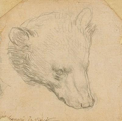 Leonardo da Vinci, 1452-1519, Head of a Bear, (estimate £8,000,000-12,000,000) ©Christie's 2021 (PRNewsfoto/Christie's)